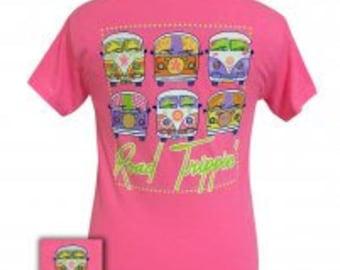 Road Trippin! - VW - Adult T-Shirt - Girlie Girl