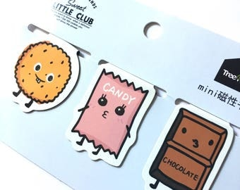 Kawaii candy magnetic bookmarks