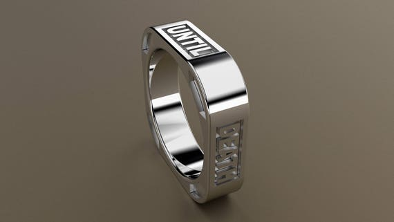White Gold 6mm Mens Square Wedding Band 14kt