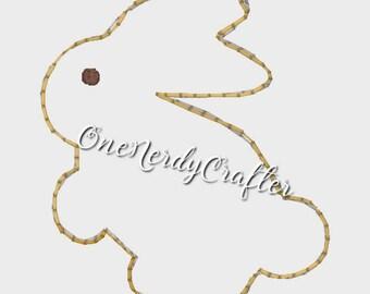Bunny Flasher Feltie Embroidery Digital Design File