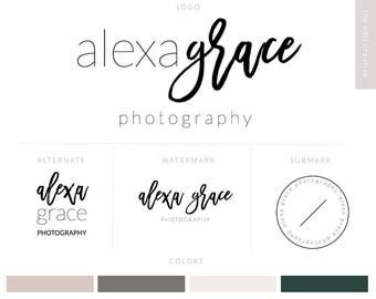 Logo Design | Branding Package | Photography Logo |  Logo Watermark | Rose Gold Logo | Watercolor Logo | Calligraphy Logo