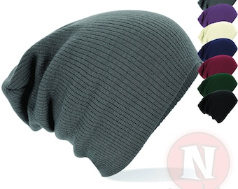Slouch beanie hat 7 colours baggy beenie festival club most cool brand new