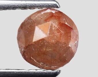 Rare 0.95 Ct Round Rose Cut 100% Natural Untreated Fancy Red Orange Diamond