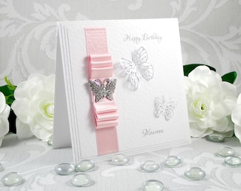 Handmade Mother's Day Card, Luxury Mother's Day Card, Cards for Mum, Cards for Mom, Personalised Mother's Day Card, Butterfly Birthday Card