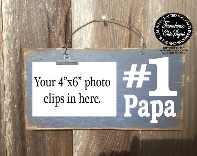 papa, papa sign, papa gift, gift for papa, number one papa, papa decorations, Christmas gift for Papa, Father's Day gift for Papa