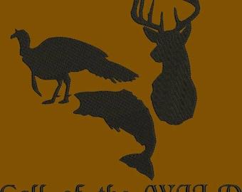 wildlife machine embroidery design