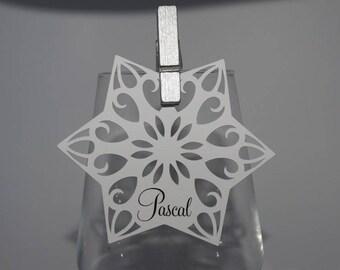Brand square spiral star snowflake Christmas
