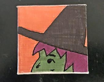Halloween Tiny Magnet #1 Original Illustration on Canvas Board