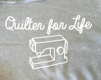 Quilter for Life Hoodie Large