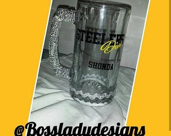 Beer mugs with Bling handle