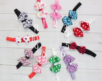 Bow Headbands, Baby Hair Accessories, Messy Bow Headband, Baby Headbands, Ribbon Hair Bows