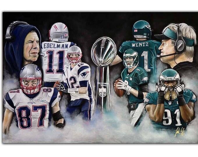 Super Bowl 52 - Philadelphia Eagles - Super Bowl - New England Patriots - Nick Foles - Carson Wentz - Eagles - Man Cave - fly eagles fly
