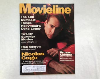 Two Nicolas Cage Cover Magazines: Movieline May 1996; Entertainment Weekly March 1996