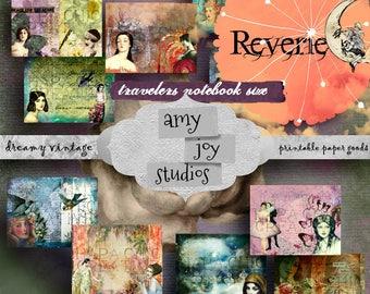 Reverie I  Travelers Notebook Kit  Travelers Notebook Inserts  midori travelers notebook inserts  printable travelers inserts  Midori Kit