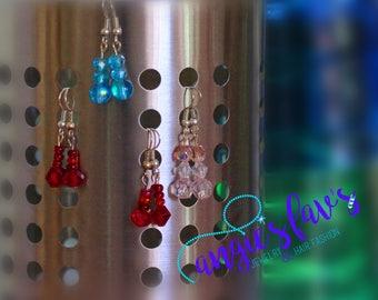Dangle Earrings, Stacked Beads