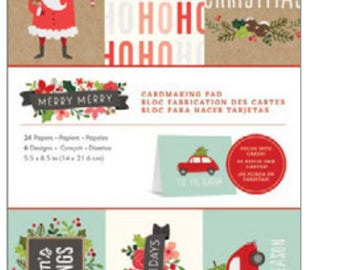 Merry merry greeting card pad
