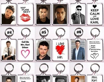 ON SALE NOW Karl Urban Keychain Key Ring - Many Designs To Choose From