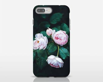 Roses Phone Case, Floral Phone Cover, Pink Roses Print, Cool Phone Cases, Cell Accessories, iPhone 8 Plus Cover, Cell Phone Covers
