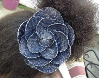 Denim Flower Adornment