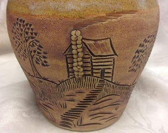 Unusual Pottery Vase from Seagrove Pottery North Carolina