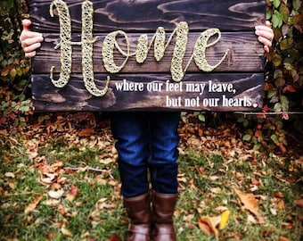 Wire Home sign