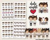 Date Night | PMD Girl Stickers | Mini Planner Sticker Sheets - PMD08