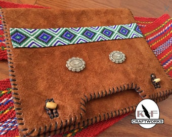 Beaded Leather Mini-Tablet Case