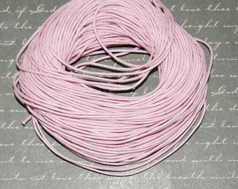 Light pink waxed 1 mm