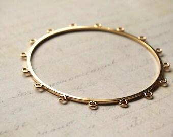 Bangle bracelet gold fill 16 small rings model 62 mm