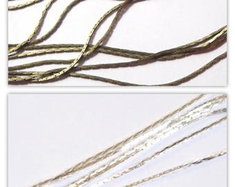 Silver or bronze metal snake chain - 50cm