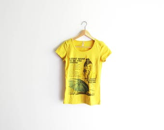 90s Not Your Friend Tee / Yellow Graphic T-Shirt