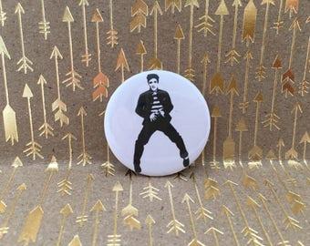Elvis Button, Elvis Pin, Jailhouse Rock, 1.5 inch pin back button, 37 mm pinback button