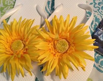 Sunflower flip flops