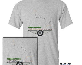 DEAL'S GAP Tail of the Dragon T-Shirt Motorcycle Sport's Car Club Road