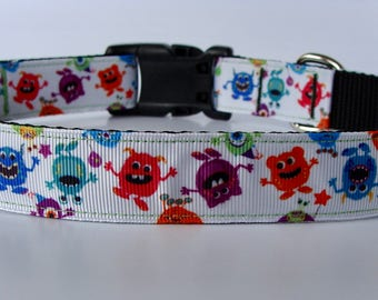 READY TO SHIP! Dancing Monsters Halloween Dog Collar