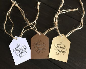 Thank You Tags, set of 12.