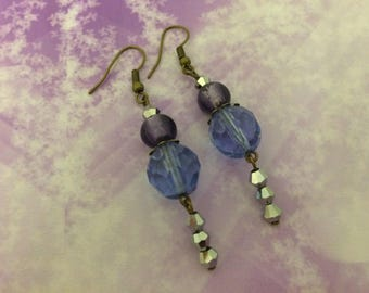 Earrings ' ear romantic Lavender beads