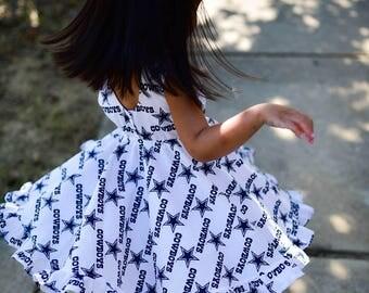 Dallas Cowboys inspired twirly Charlotte Dress