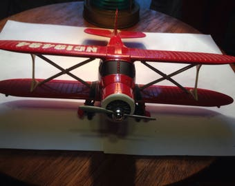Texaco Red Diecast NC19494 Metal Plane