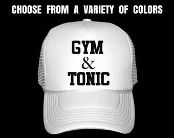 Women's Fitness Trucker Hat. Gym Hat. Workout Cap. Exercise Hat. Ladies Gym Baseball Cap. Gym & Tonic.
