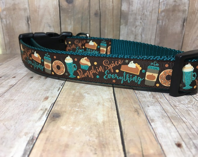 "The Pumpkin Spice | Designer 1"" Width Dog Collar 