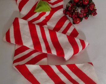 Red White Striped Leggings, Candy Cane Striped Leggings, Christmas Red White Tights, Toddler Christmas Tights, Footless Tights Girls