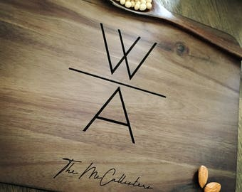 Personalized Cutting Board Personalized Custom Cutting Board Wedding Gift Cutting Board Engraved Cutting Board Anniversary Cutting Board #02