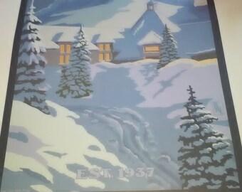 Timberline Lodge Mt Hood Oregon Poster