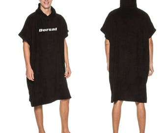 Dorsal Surf Wetsuit Change Poncho Robe Towel - Black