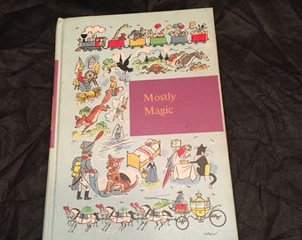 """Vintage Classic Book: """"Mostly Magic"""" ~ Through Golden Windows Collection ~ Children's Book~ Poems & Fairy Tales ~ Copyright 1958"""