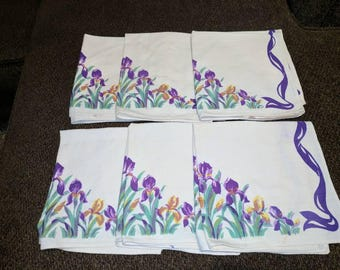 Set of 6 Vintage Cloth Napkins