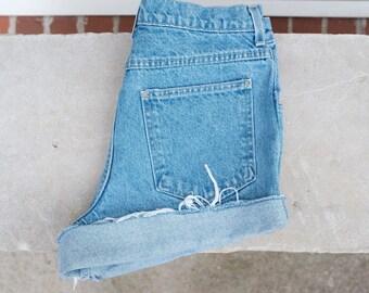 Vintage Land's End high-waisted denim shorts