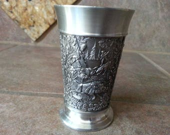 Original Creation Zinn Becker Stuttgart Pewter Cup was made in Germany and is in Excellent Condition, Collectible Beautiful Gift, 95% Pewter