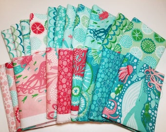 Coral Queen of the Sea Stacy Hsu -- 20 Fat Quarter Bundle moda cotton quilting fabric oop VHTF